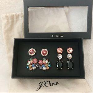 J.CREW NWT Bold Gem Earring Set Multicolor